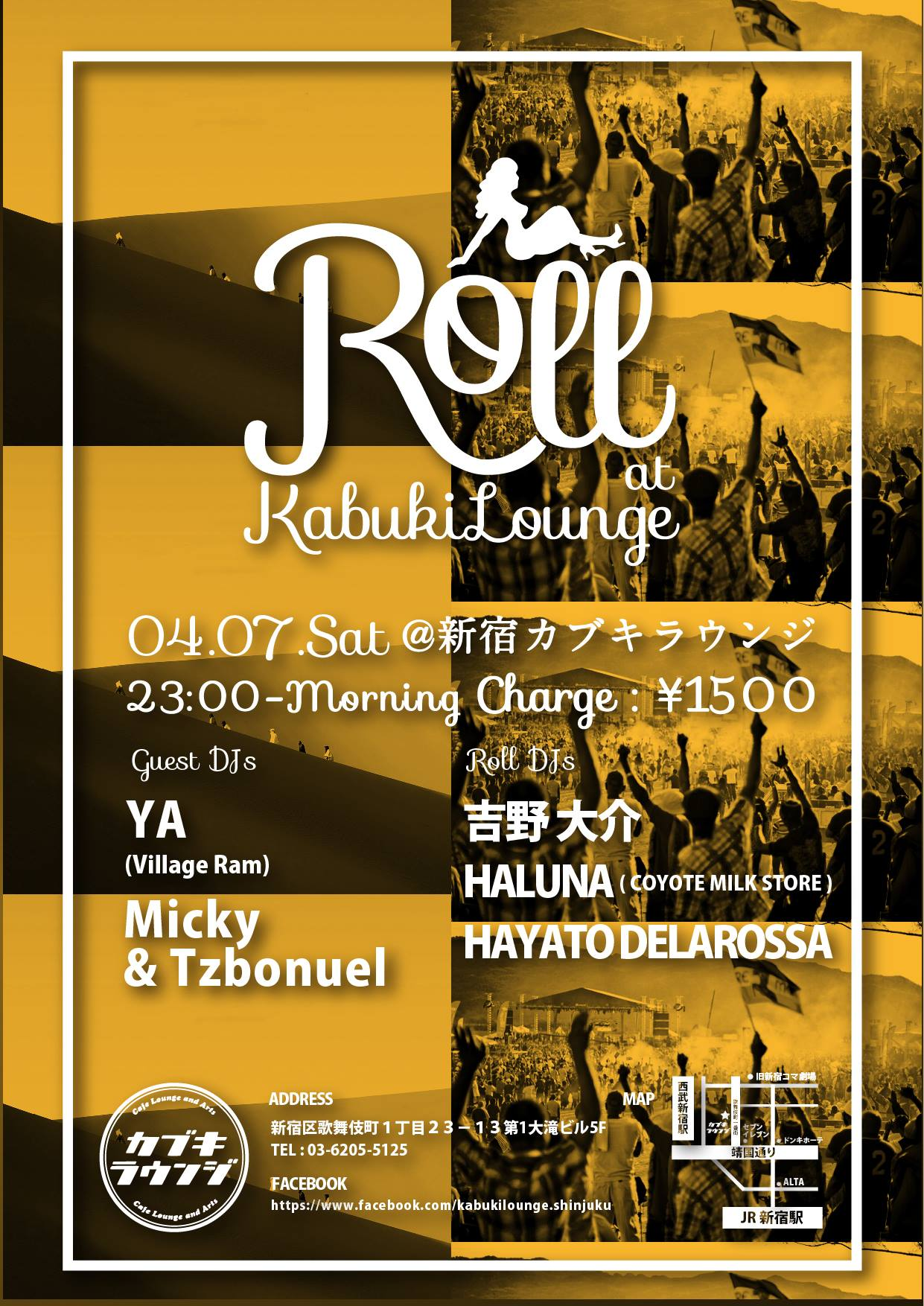2018.04.07.SAT Roll @ 新宿カブキラウンジ