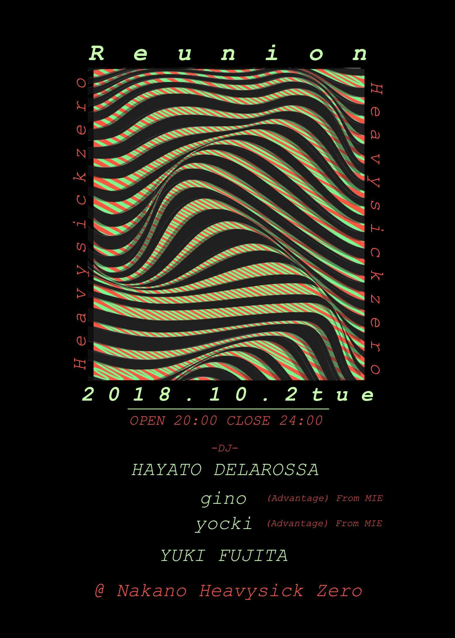 =10/2(火) Reunion=中野heavy sick zero