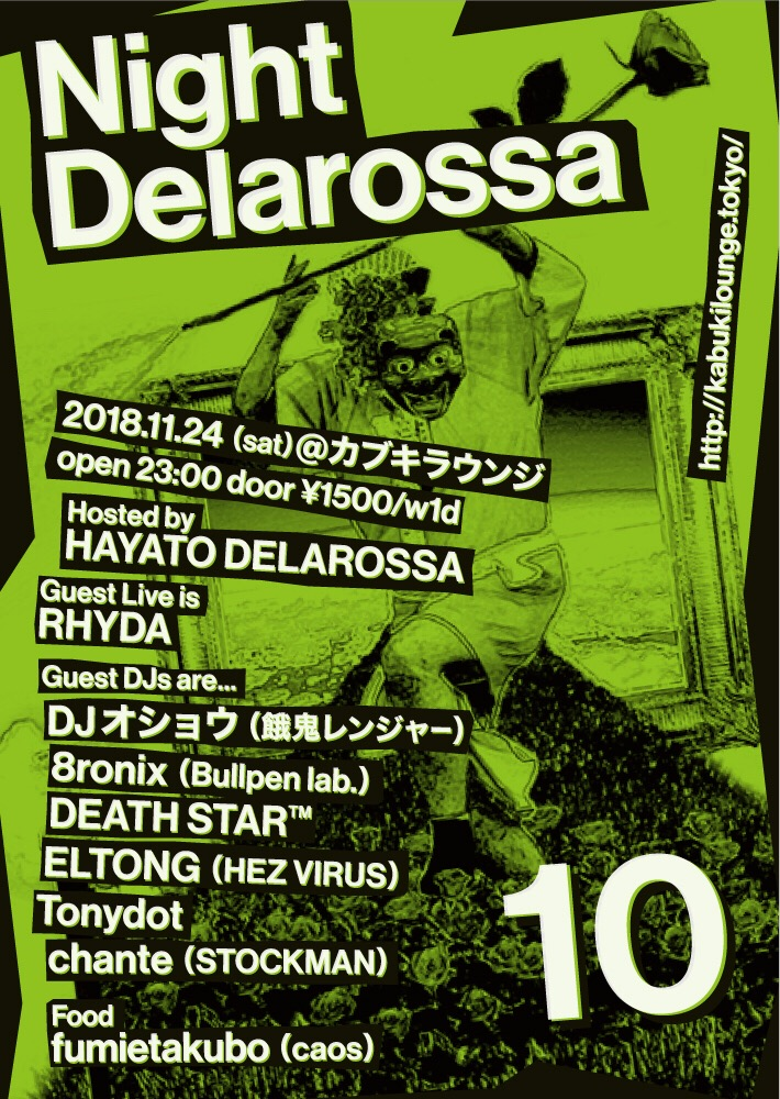 "2018.11.24(sat)@カブキラウンジ ""Night Delarossa vol.10"""