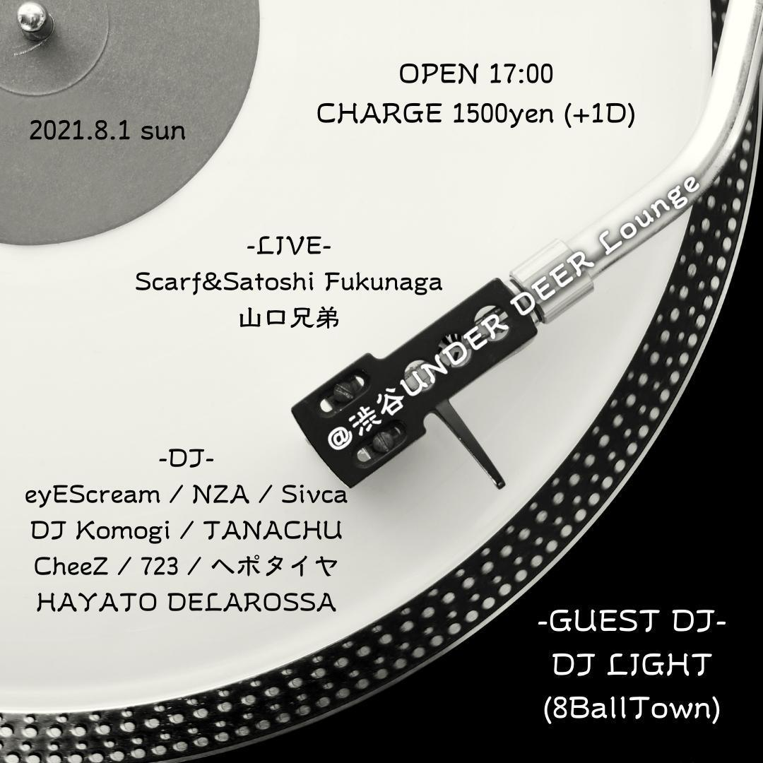 2021.8.1 sun @渋谷UNDER DEER Lounge